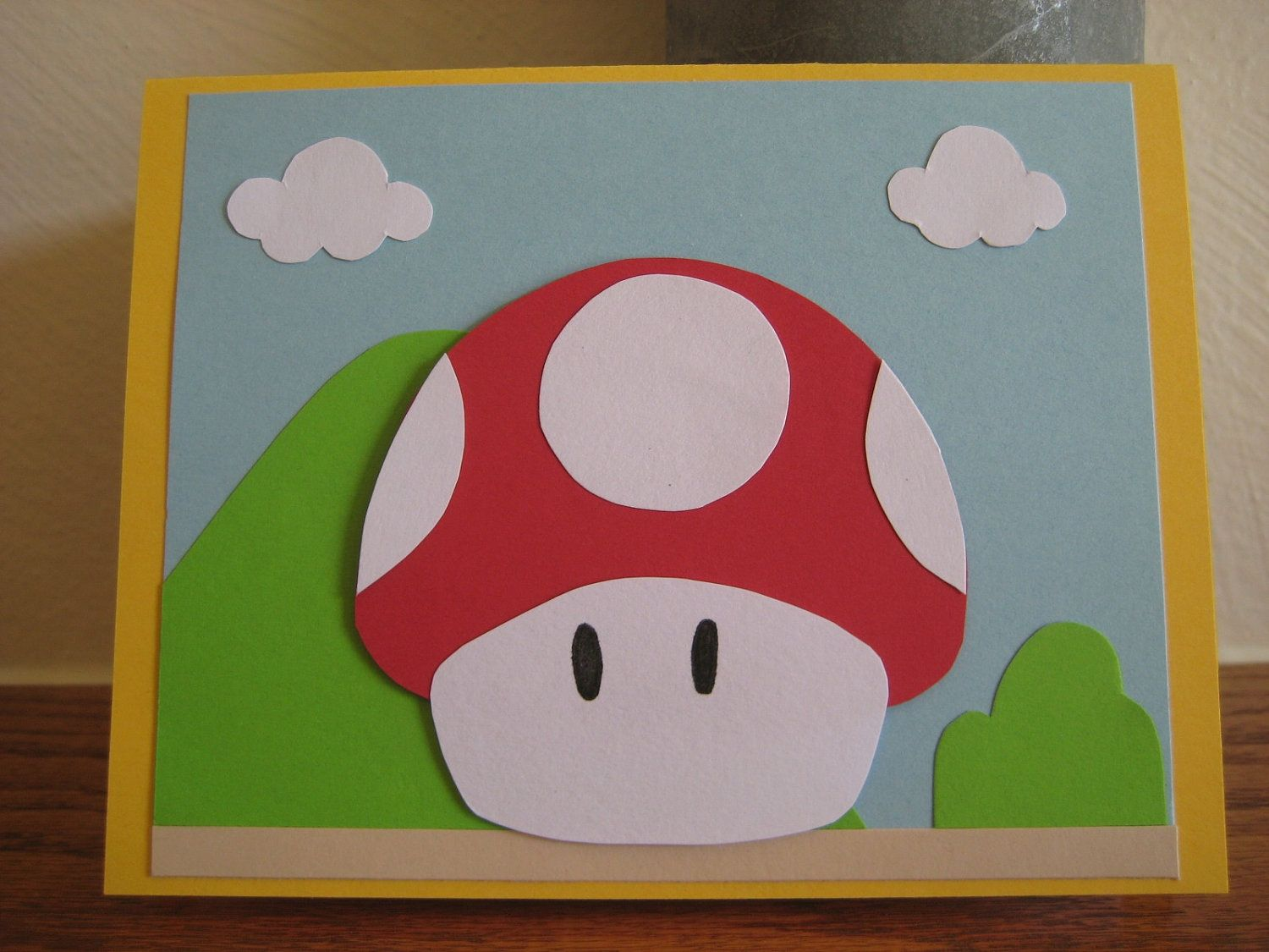 Image Detail For Handmade Mario Brothers Mushroom Birthday Card By