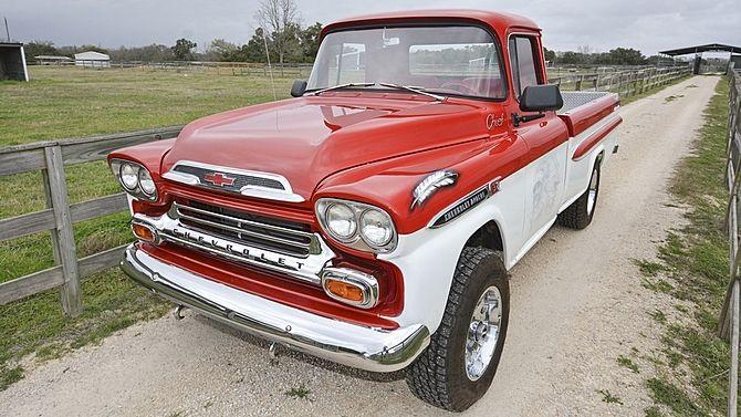 1959 Chevrolet Apache Pickup Presented As Lot S179 1 At Houston Tx 2015 Image1 Chevrolet Apache 1959 Chevy Truck Classic Pickup Trucks