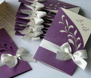 Dark Purple Wedding Invitatons basteln und nähen