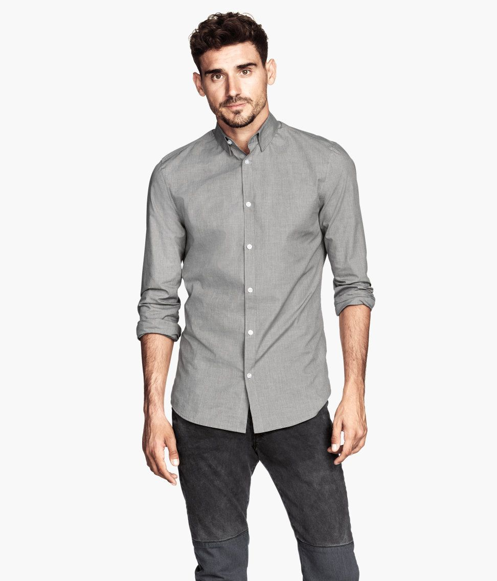 db29565475 Classic gray shirt with long sleeves
