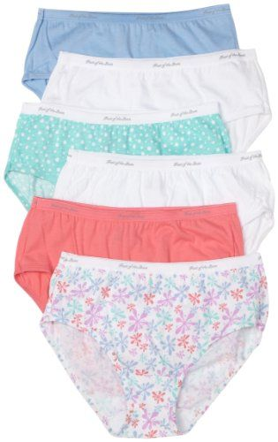 Fruit of the Loom Womens 6 Pack Cotton Thongs Panties