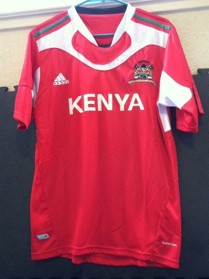Adidas #Climacool Red Kenya #Soccer Jersey Harambee National