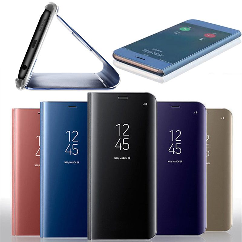 Lewei Clear View Smart Spiegel Fall Fur Samsung Galaxy S8 S9 Plus S7 Rand Flip Stander Luxus Abdeckung Fur Note 8 Telefon Fall Flip Phone Case Samsung Galaxy Samsung