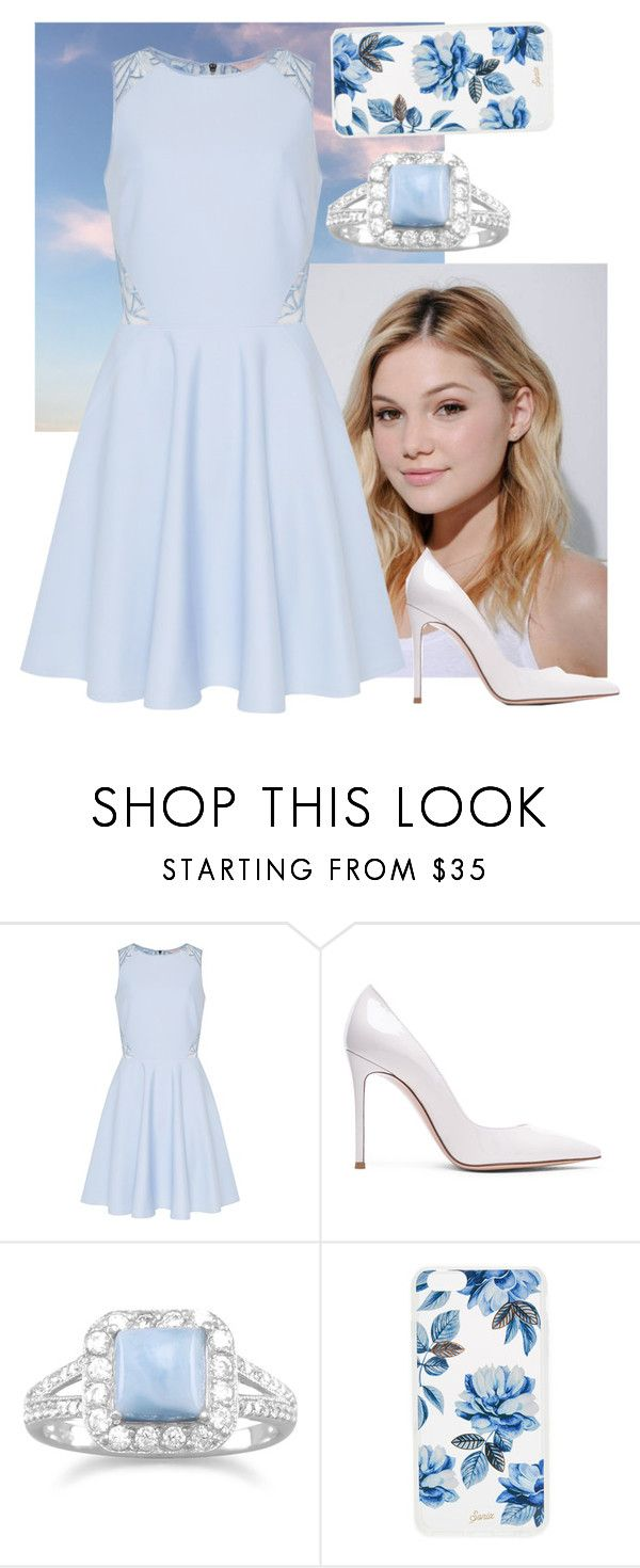 """""""Light blue heaven🗻"""" by mylifeasagirl10 ❤ liked on Polyvore featuring Neutrogena, Ted Baker, Gianvito Rossi, BillyTheTree and Sonix"""