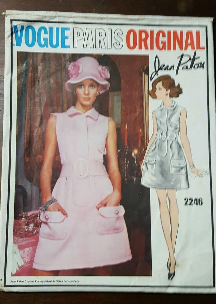Vintage 60s Vogue Paris Original Jean Patou Dress Pattern Size 12 ...