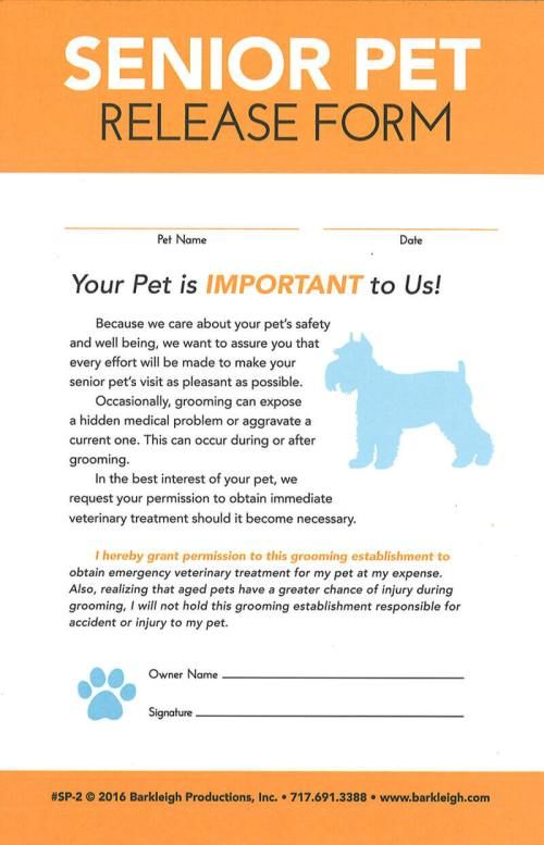 Modern Senior Pet Release Form Barkleigh Store Pet Grooming Business Dog Grooming Salons Dog Grooming Shop