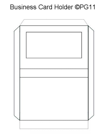 Business Card Holder Template I Made Papercraft Templates Business Card Holders Paper Crafts