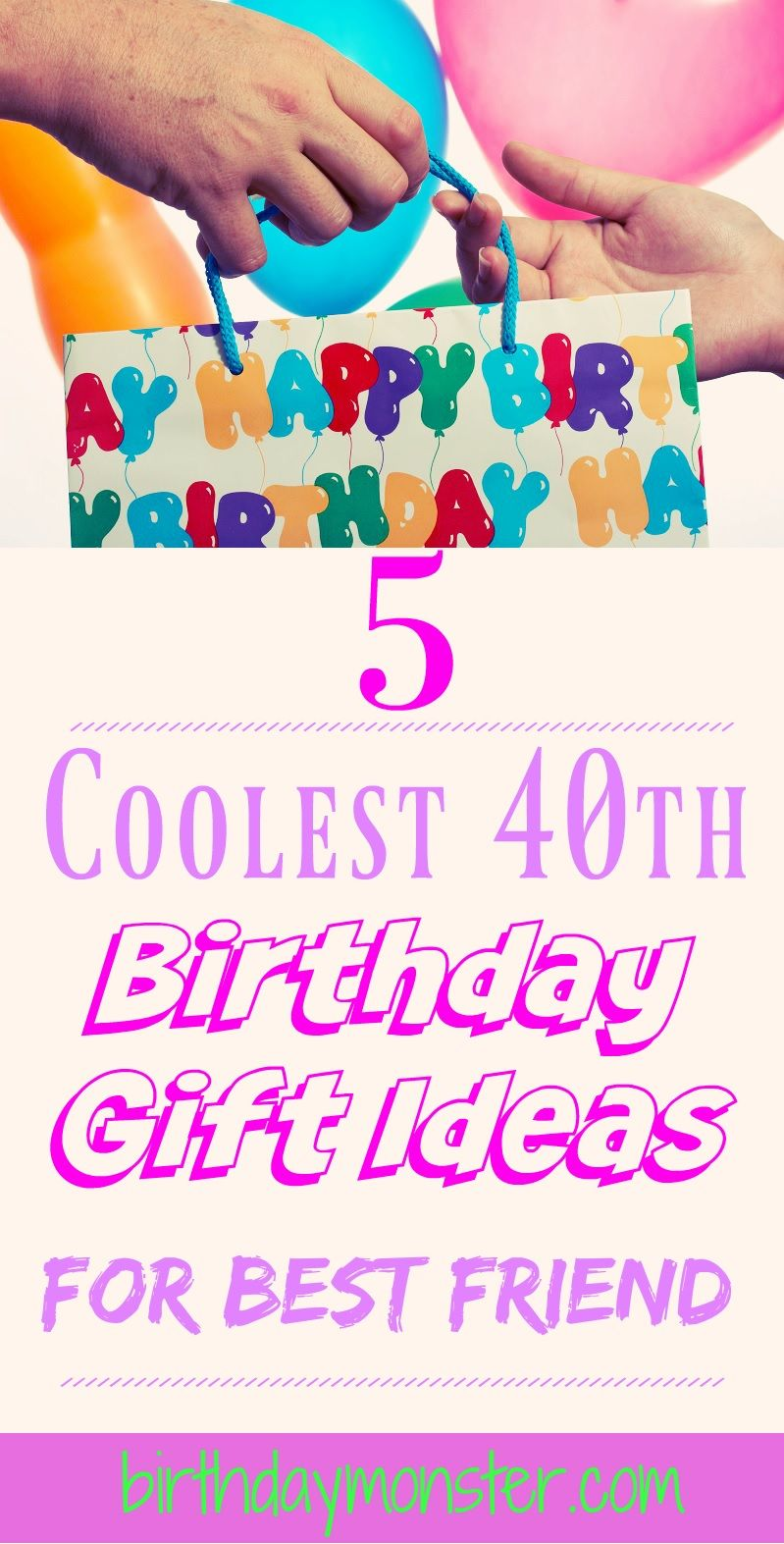 40th birthday gift ideas for best friend no matter how you