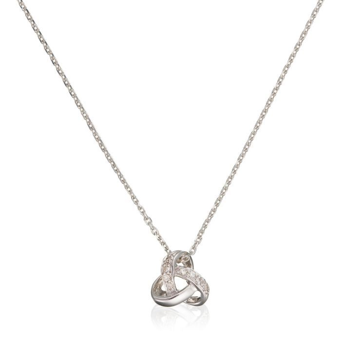 Elegant Sterling Silver Necklace with Crystal Diamond