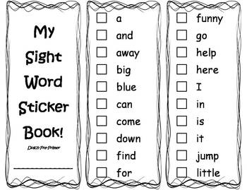 graphic relating to Sight Word Books Printable identify Absolutely free Printable Dolch Sight Phrase Publications #1 Sight Phrase