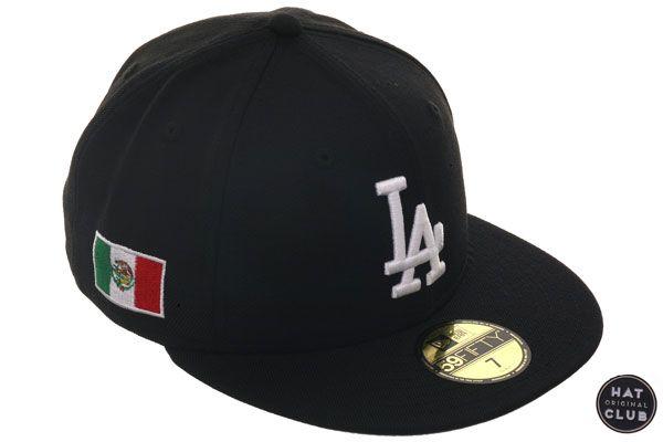 the best attitude 6bd69 303f2 Hat Club Original New Era 59Fifty Los Angeles Dodgers Mexico Flag Hat -  Black