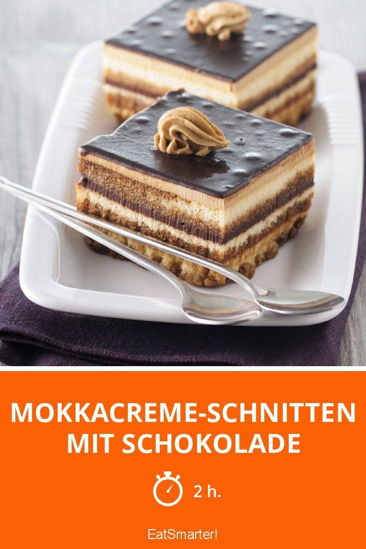 Mokkacreme-Schnitten mit Schokolade
