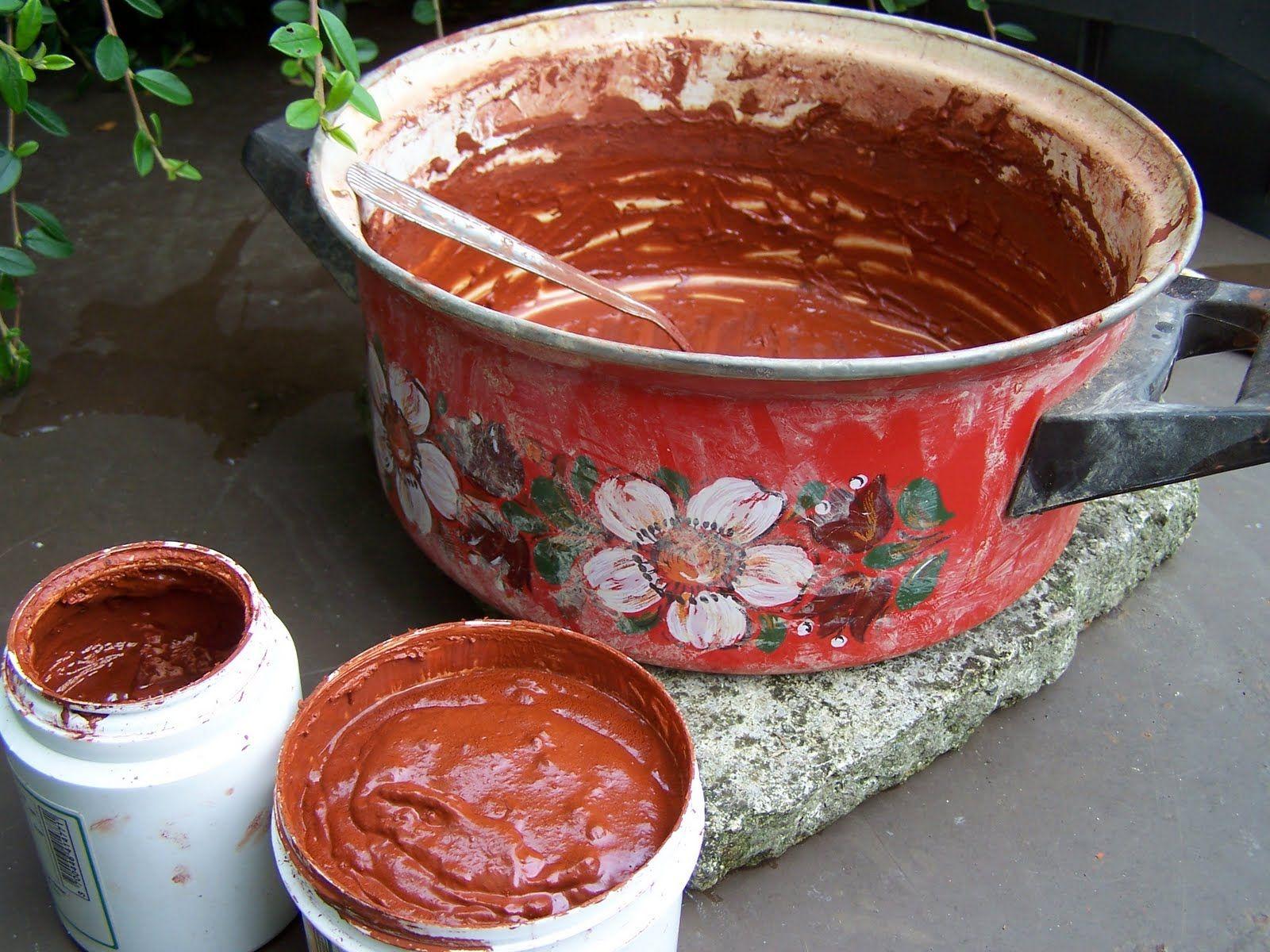 Ma recette de peinture naturelle l 39 ocre peinture Peinture salon de jardin