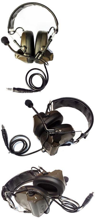 9a4fb1cd67d Vests 36284: Airsoft Tomtac Comtac Ii 2 Headset Mic Boom Radio Peltor  Design Od Green