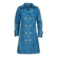 Ilse Jacobsen rain trench coat - petroleum
