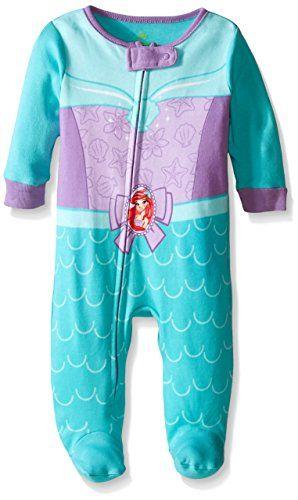 Disney Baby-Girls Newborn Ariel Costume One Piece Blanket Sleeper 20599920b