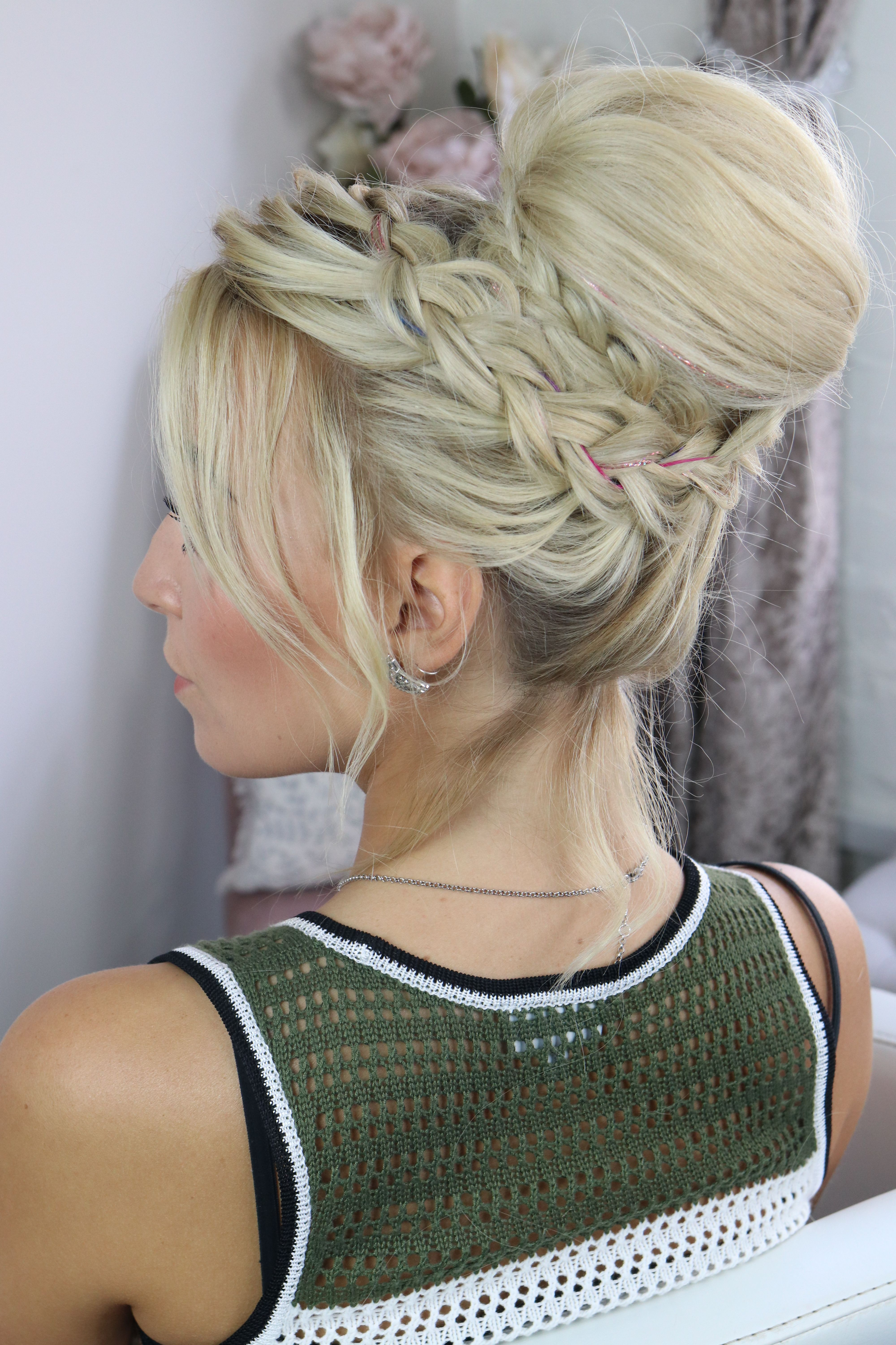 Chignon Hairstyle With Braids Youtube Sweetheartshair Hairtutorials Chignon Hair Chignon Braided Hairstyles