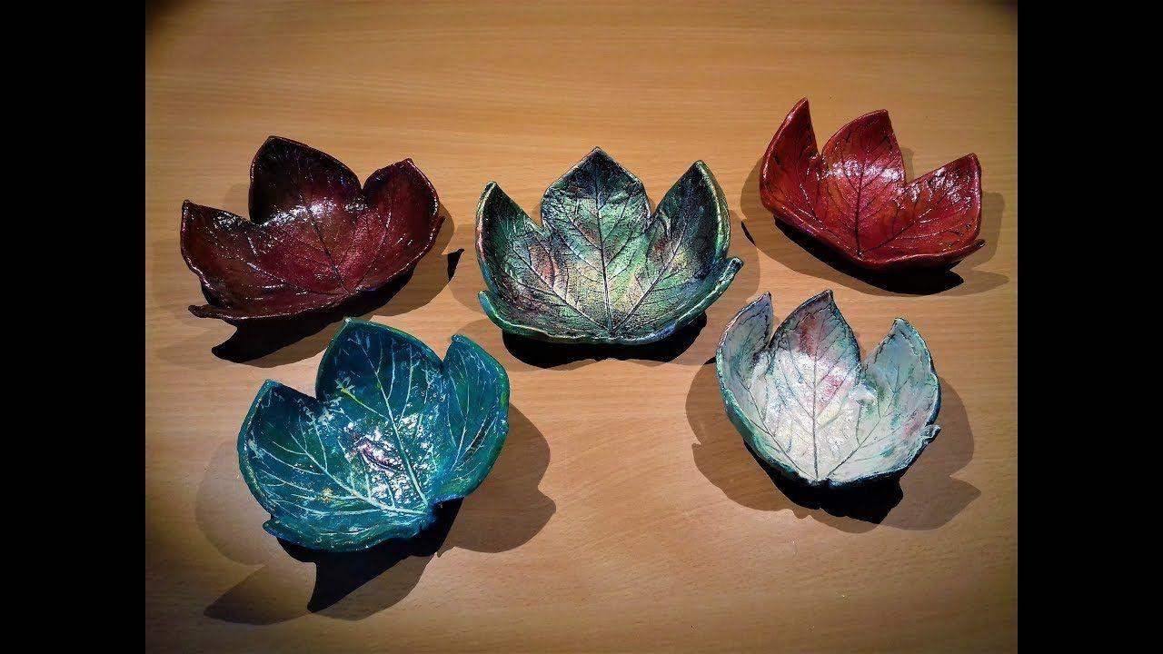 DIY Leaf Bowls with Airdrying Clay Air dry clay, Diy