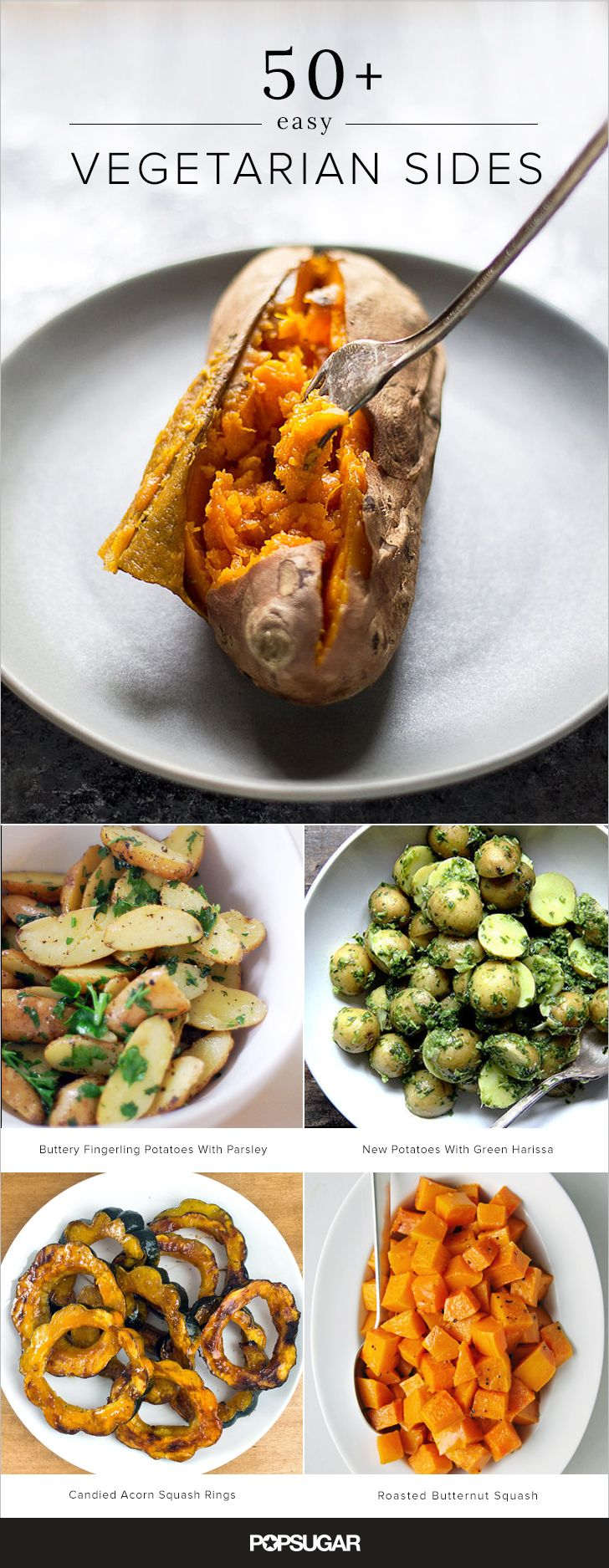 More Than 60 Easy Vegetarian Sides is part of cooking Vegetarian Dishes - Unless you're cooking a onepot or pan dinner, chances are you could use some side dish inspiration  Sure, you have your standbys, but sometimes it's fun to