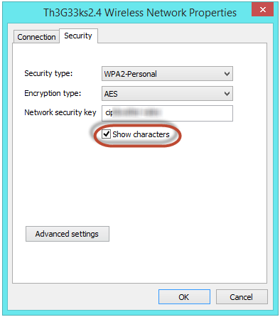 know internet password in windows 8 or windows 8 1 see or