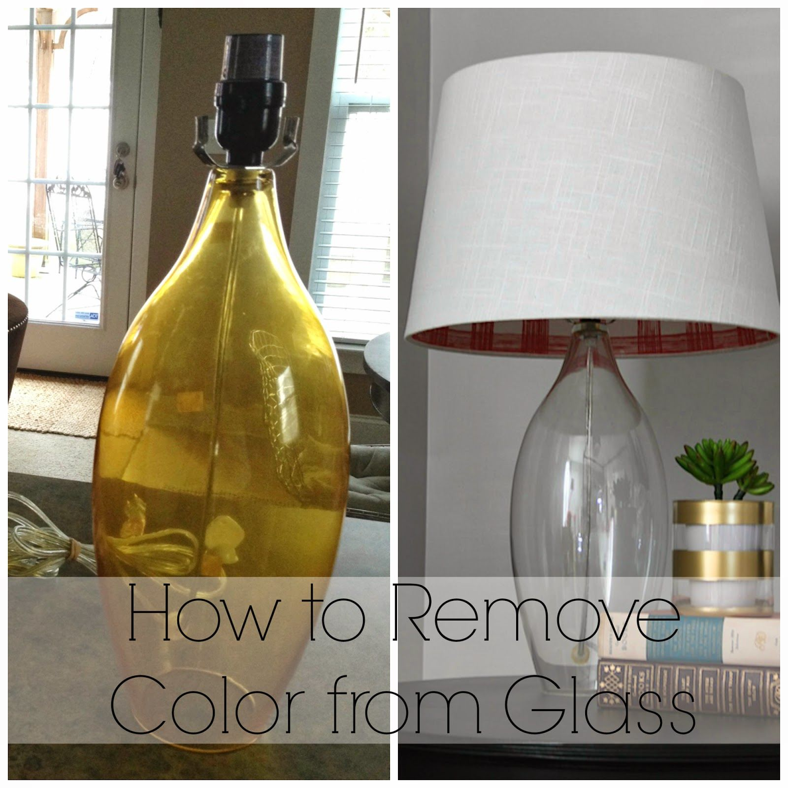 How To Remove Color From Glass For Glass That Has A Color Film