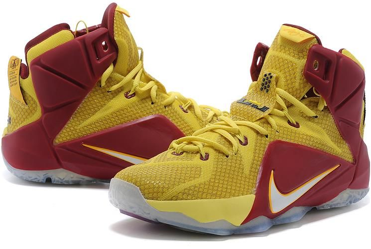 best website bdb37 81b46 Lebron 12 Gold Yellow Red0 | Lebron 12 Mens for sale ...