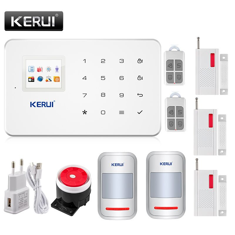 Kerui Wireless Intelligent Gsm Alarm System Security Home Auto Dial Call House Office