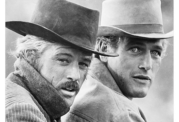 Dan Springer, Butch Cassidy - Paul Newman and Robert Redford in the film Butch Cassidy and the Sundance Kid.