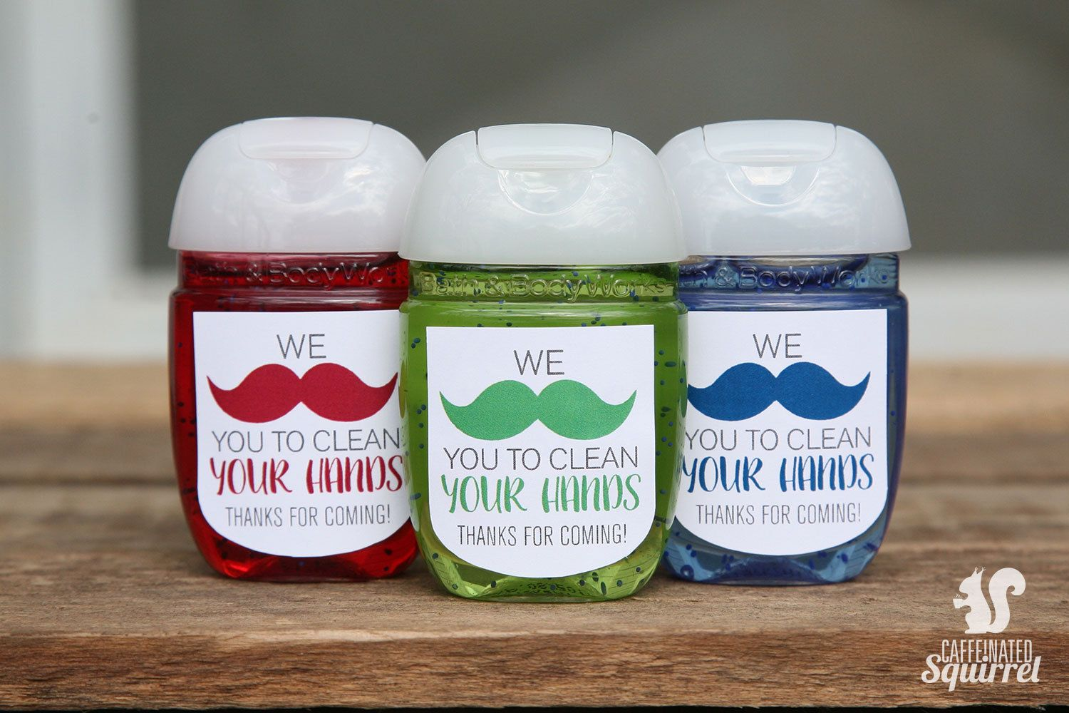 We Mustache You To Clean Your Hands Sanitizer Labels Baby