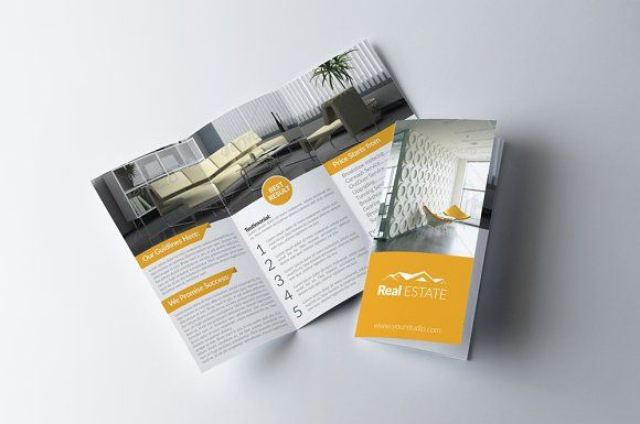 Real Estate Trifold Brochure By Business Flyers On Creativemarket - Brochure template tri fold