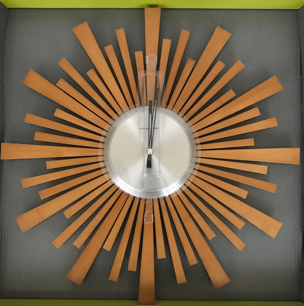 Mid Century Modern Sunburst Wall Clock. Very Cool Retro Look, Perfect For  Mid Century Modern Decor. | EBay!