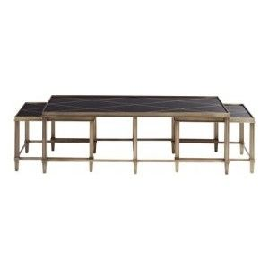 Decorati | Barbara Barry Diamond Metal Coffee Table