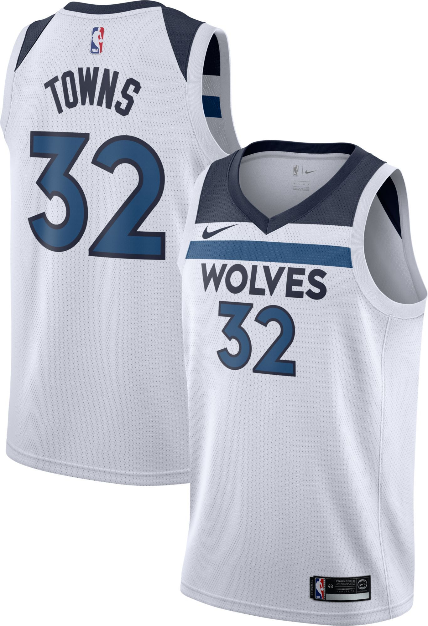 wholesale dealer e0578 10d82 Nike Men's Minnesota Timberwolves Karl-Anthony Towns #32 ...