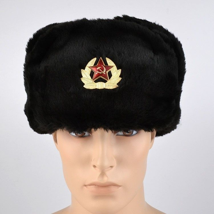 Soviet Ushanka Hat 46 99 This Faux Fur Soviet Soldier S Hat Ushanka Features A Russian Hat Emblem On A Simple Ushanka Hat Russian Winter Hat Russian Hat