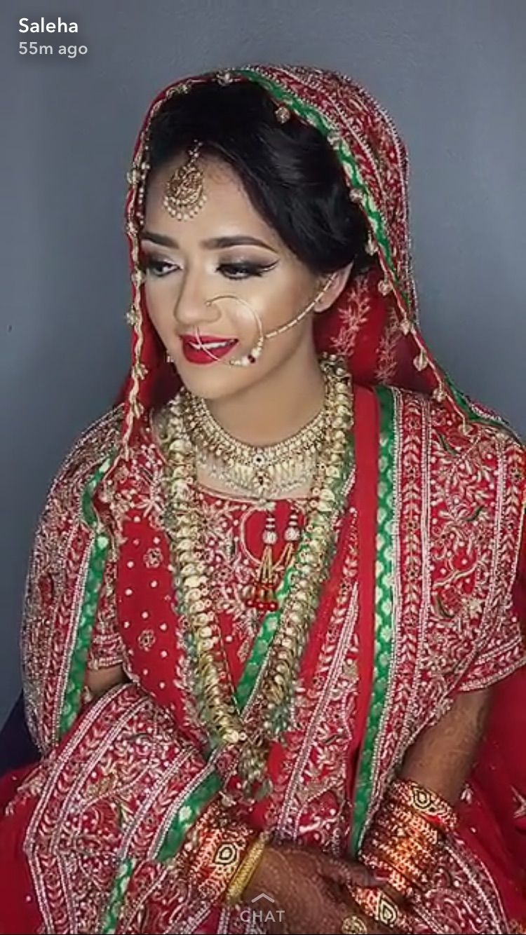 khada dupatta | hyderabadi bride | ismath apa's wedding hairstyles