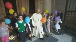"A mother and grandfather about the joy of the ""Family Day"" with Papa Francesco [Italian]"