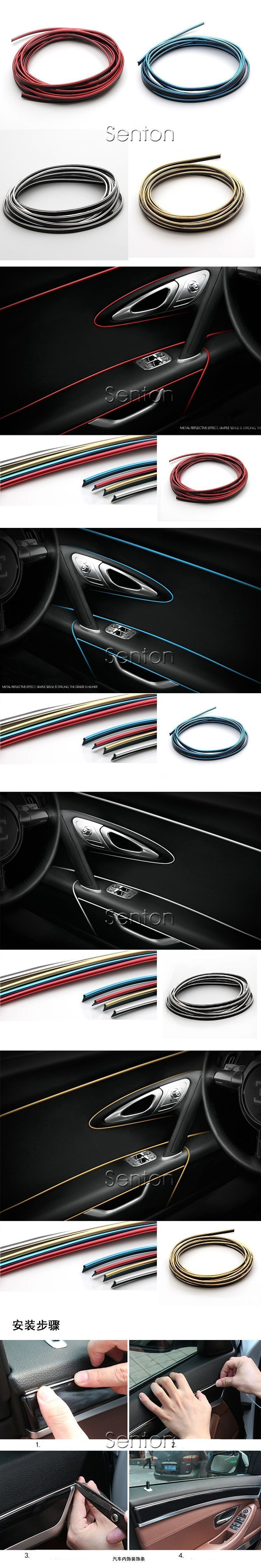 Car dashboard accessories toys  M CarStyling Interior Decoration Stickers For Fiat Punto Stilo