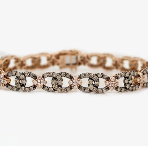 Levian 14k Rose Gold 5 24ct Chocolate Diamond Bracelet 7 75 With Papers Ebay