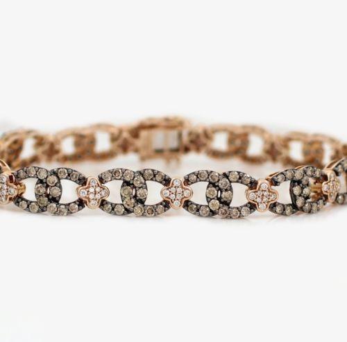 levian 14k rose gold 5 24ct chocolate diamond bracelet 7. Black Bedroom Furniture Sets. Home Design Ideas