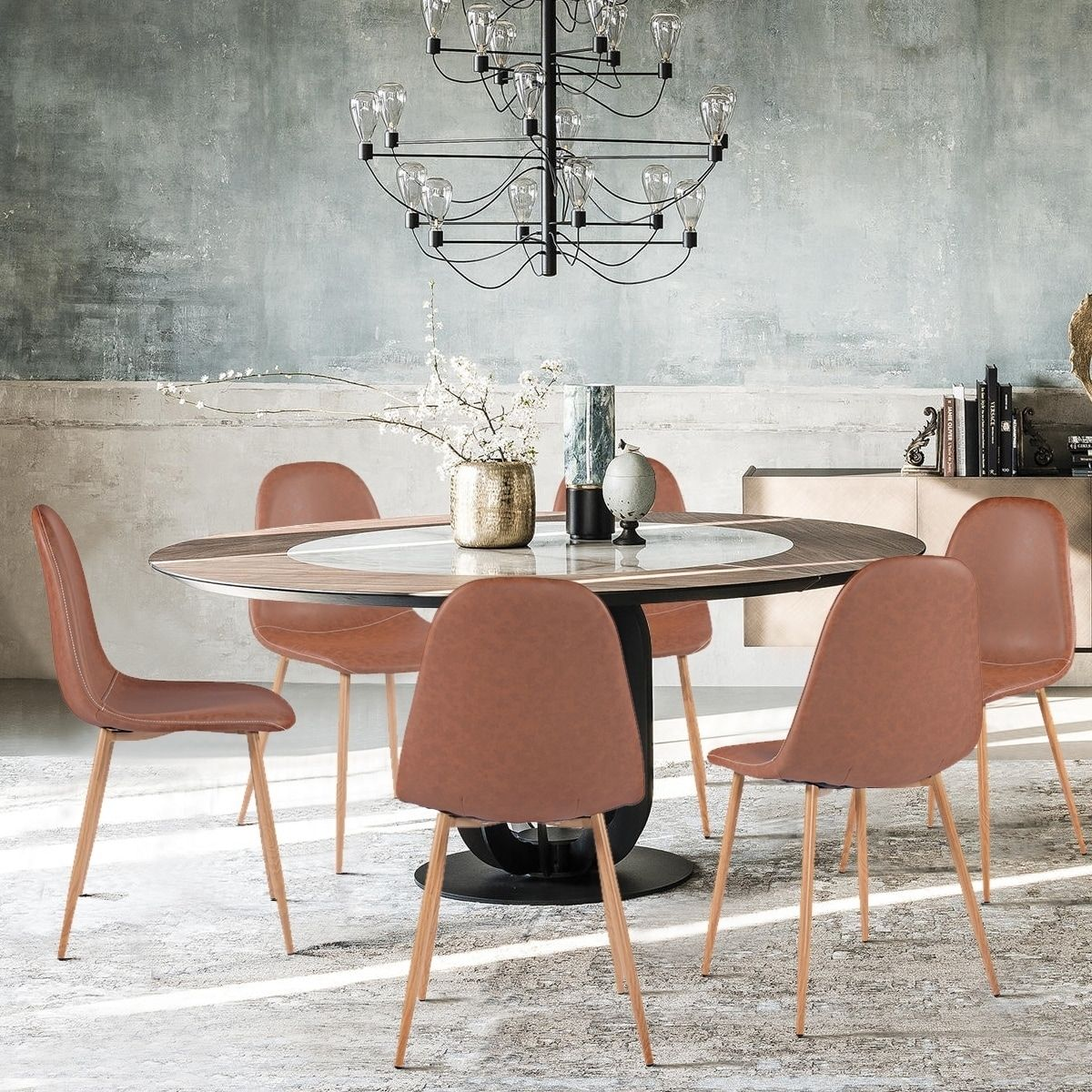 Carson Carrington Sagudden Modern Faux Leather Dining Chair