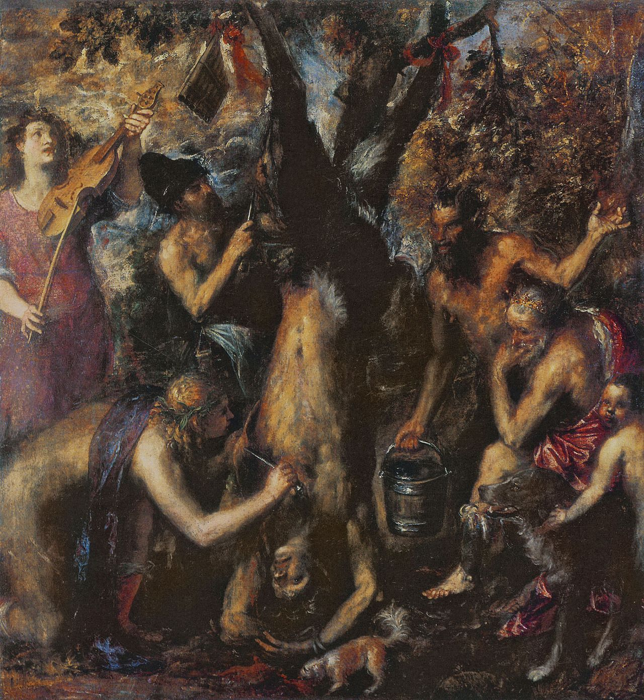 Titian The Flaying Of Marsyas 1576 Scary Paintings Renaissance Art Renaissance Artists