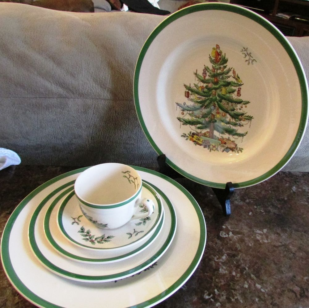 SPODE ENGLAND CHRISTMAS TREE DINNERWARE ODD LOT 12 PIECES NICE! #SPODE & SPODE ENGLAND CHRISTMAS TREE DINNERWARE ODD LOT 12 PIECES NICE ...