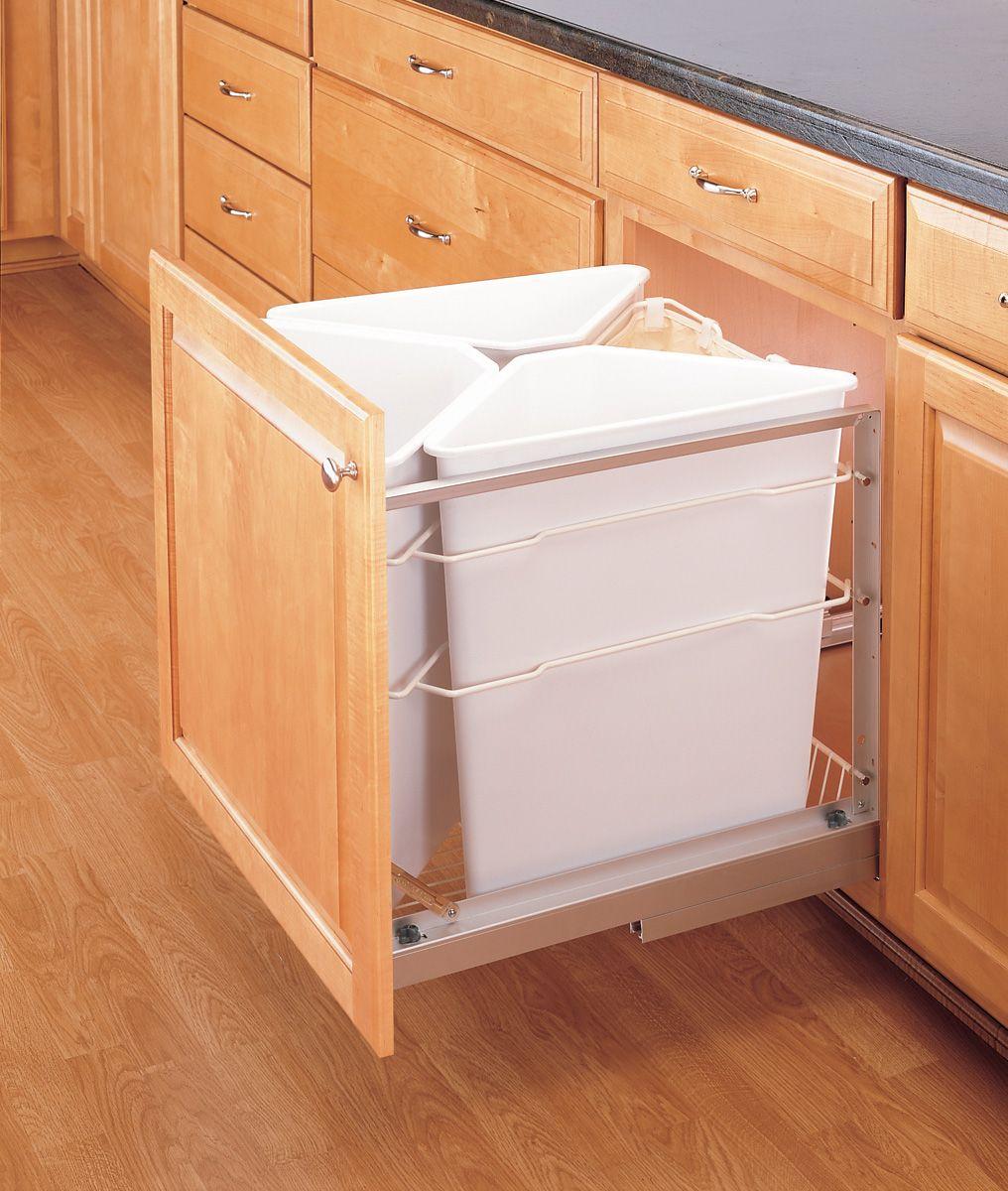 Coordinar gabinete de la cocina piso de madera de color - Gabinete Para Basura