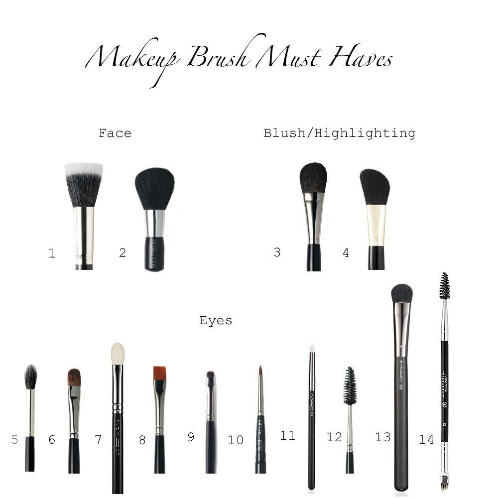 Makeup Brush Must Haves Here is a simple guide telling what each brush is for