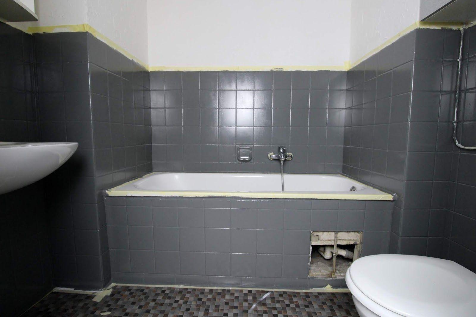 Diy Badezimmer Streichen Und Renovieren Mit Fliesenfarbe Badezimmer Streichen Badezimmer Komplett Badezimmer Rustikal