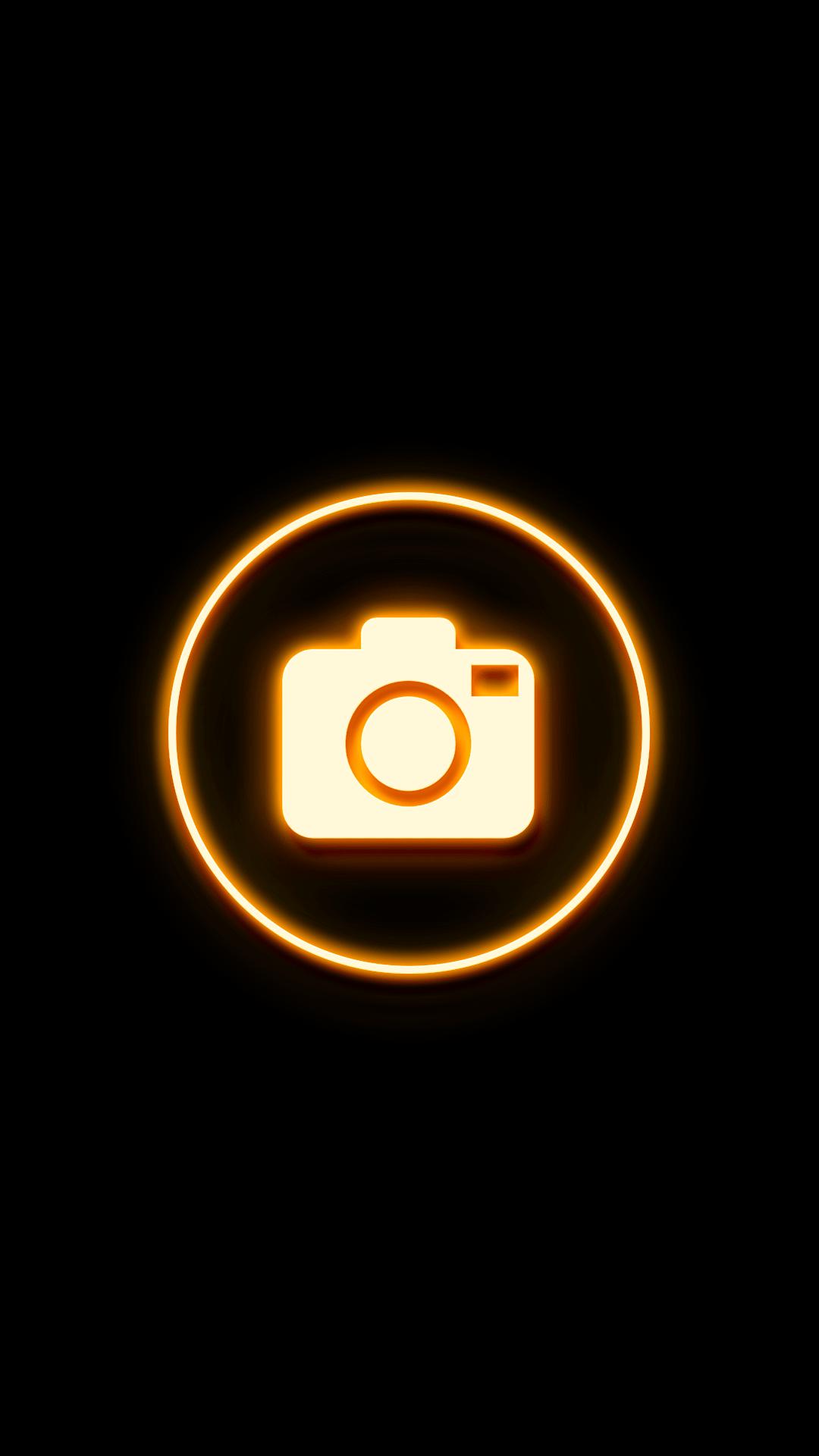 Yellow orange neon Highlight Covers Instagram Highlight