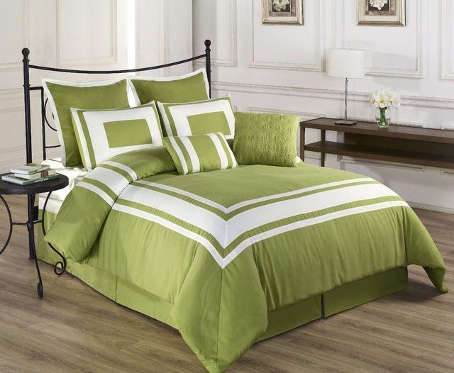 Lux-Decor Down Alternative Comforter Set, Burnt Orange, California King traditional bedding