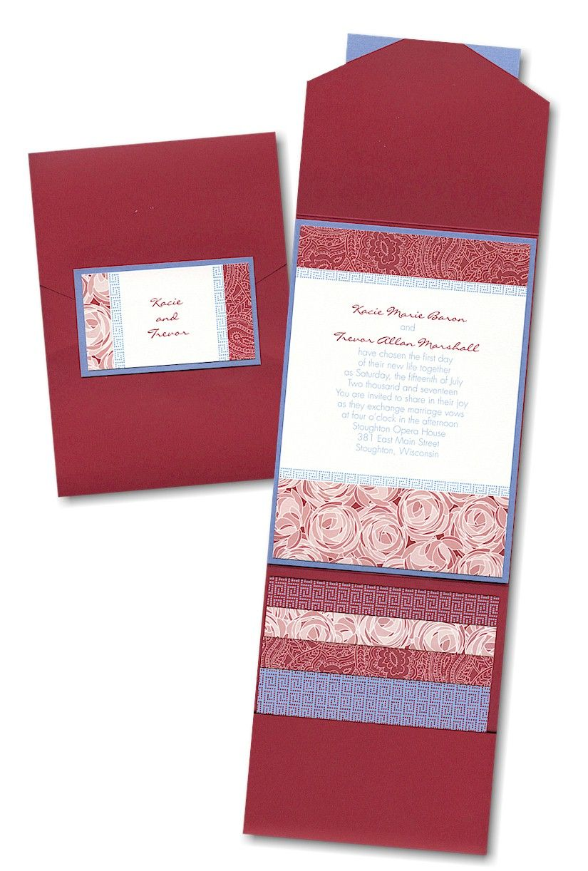Playful Patterns Pocket Wedding Invitation. Only $3.20 each when you ...
