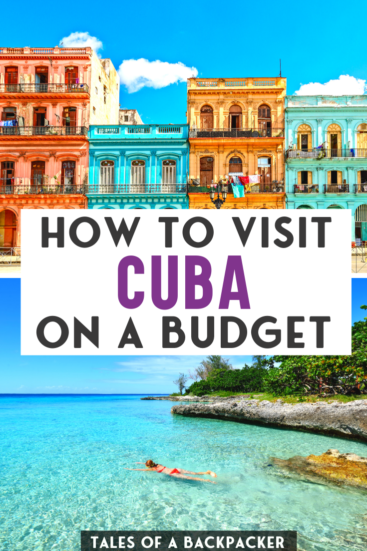 How to travel to Cuba on a Budget! Here is the ultimate guide to traveling in Cuba without breaking the bank. Cheap travel in Cuba isn't always easy but it is possible - here are my tips for finding cheap accommodation, food & drink and getting around Cuba without spending a lot of money. Cuba Travel Tips | Cuba Budget Travel | Save Money in Cuba | Backpacking Cuba | #cuba