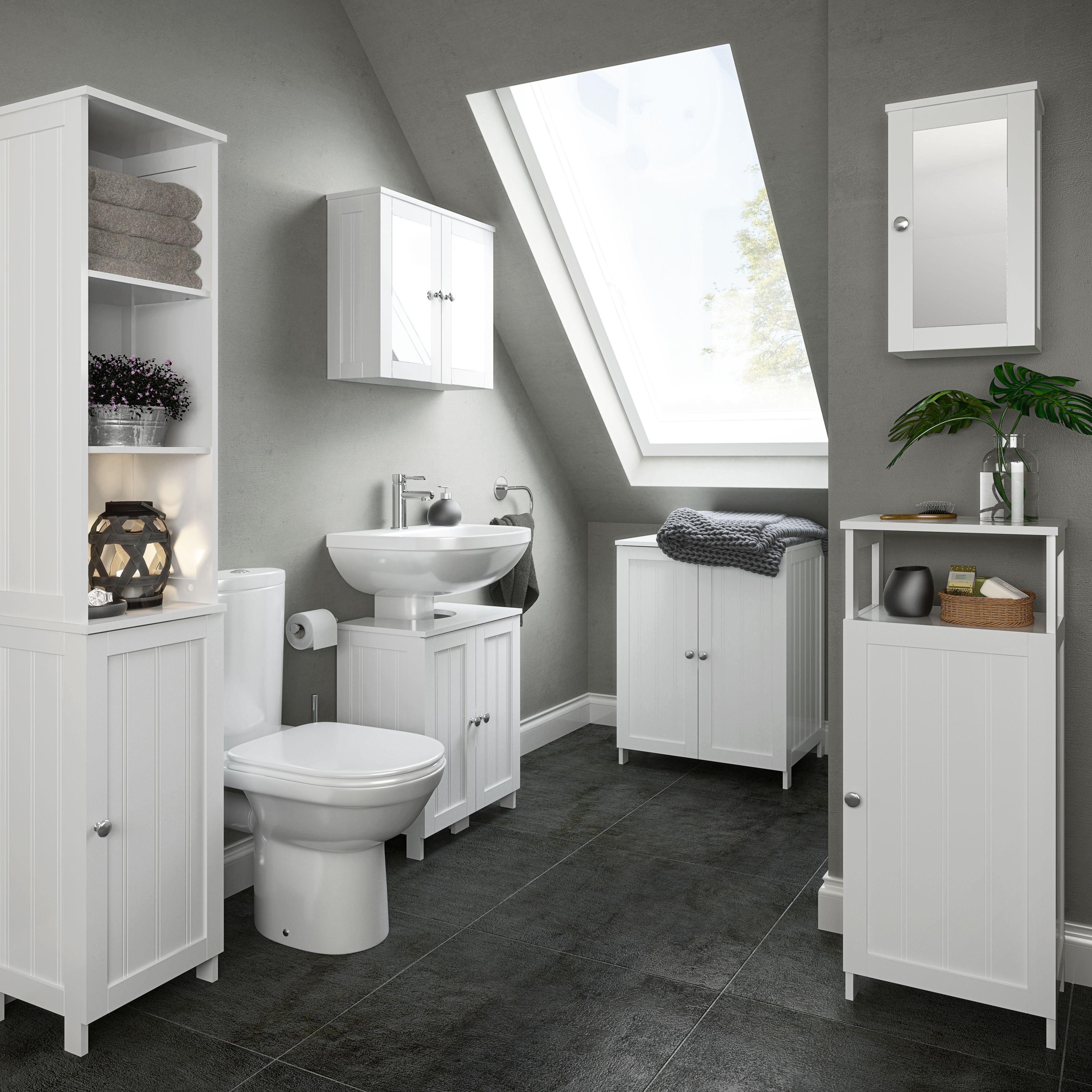 B&Q Nicolina range Tall storage unit, Floor standing